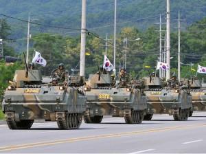 South Korean tanks on display