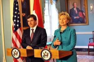 Secretary of State Hillary Rodham Clinton meets with Turkish Foreign Minister Ahmet Davutoglu