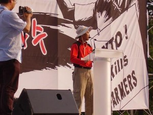 Farmers speak out; photo via Flickr from Asian Farmers Association