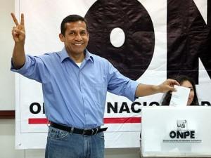 Ollanta Humala; photo by EFE/PAOLO AGUILAR