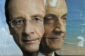 French presidential candidates Francois Hollande and Nicolas Sarkozy