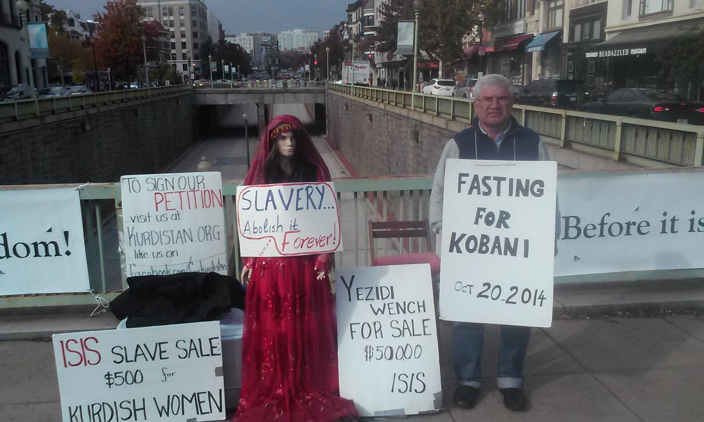 Kobane: Hunger Strikes and Air Strikes