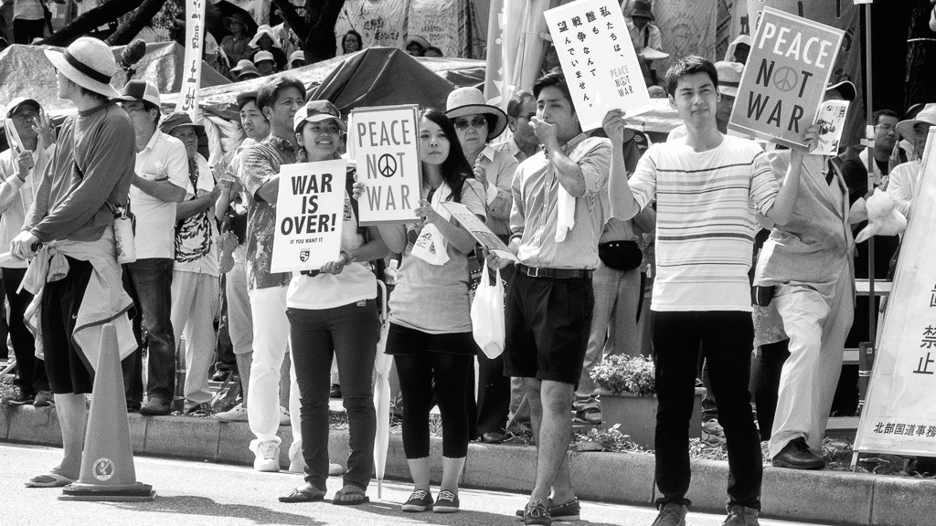 japan-pacifist-constitution-article-9-abe-protest-collective-defense