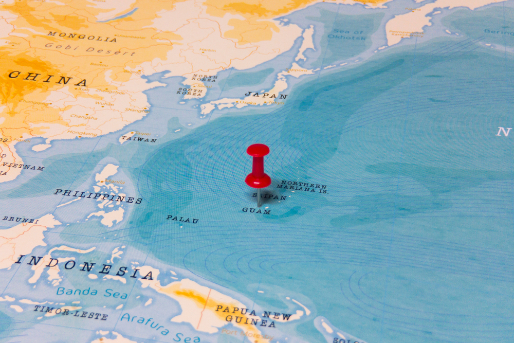 Guam and the Northern Mariana Islands' location in the Pacific (Shutterstock)